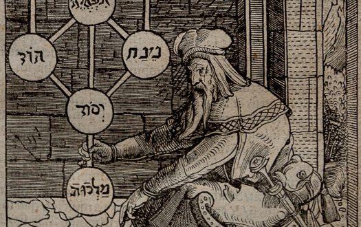 Kabbalist holding the ten sefirot