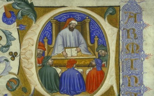 Boethius with his students